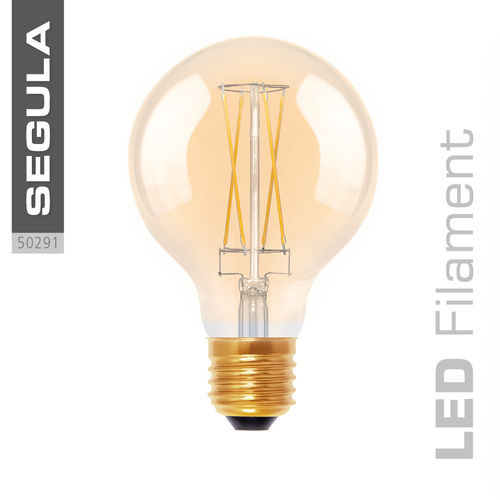 LED GOLDEN GLOBE 80 Segula 50291 E27 6W (ca. 30W) 325lm 2000K dimmable
