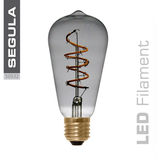 LED Filament Rustika Curved Grey Segula 50532 E27 4W (ca. 15W) 2200K dimm.