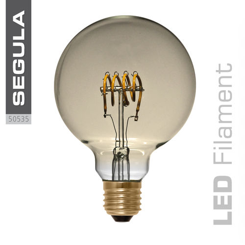 LED Filament Globe 95 Curved Gold Segula 50535 E27 4W (ca. 15W) 2200K dimm