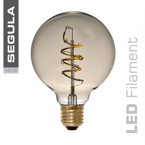 LED Filament Globe 95 Curved Gold Segula 50536 E27 4W (ca. 15W) 2200K dimm