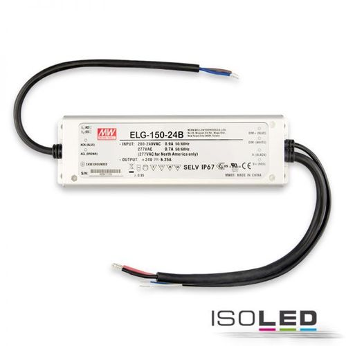 LED Netzteil MEAN WELL HLG-240H-24B 24VDC 0-240W IP67 1-10V dimm.