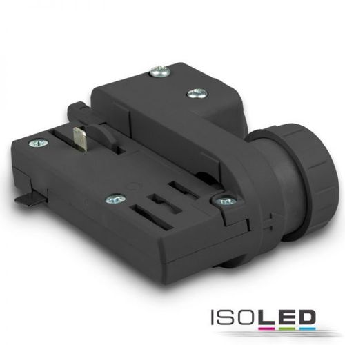 3-Phasen Adapter schwarz ISOLED für EUTRAC & GLOBAL Schienen