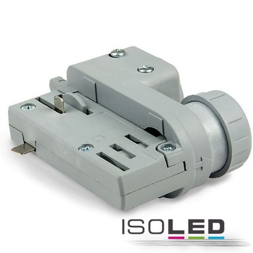 3-Phasen Adapter silber ISOLED für EUTRAC & GLOBAL Schienen