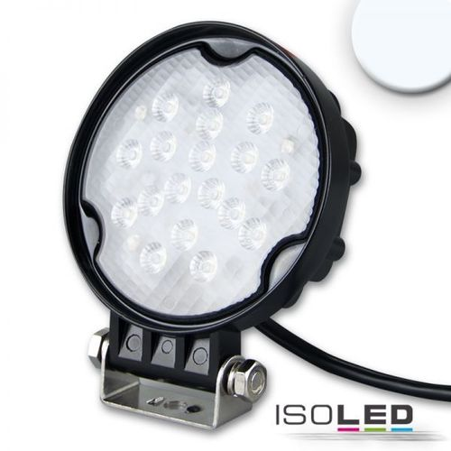 Projecteur LED ISOLED noir 20W (ca. 150W) 10-30VDC 12VDC 24VDC blanc froid