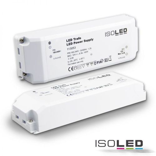 Alimentation LED ISOLED 12VDC 0-100W non dimmable