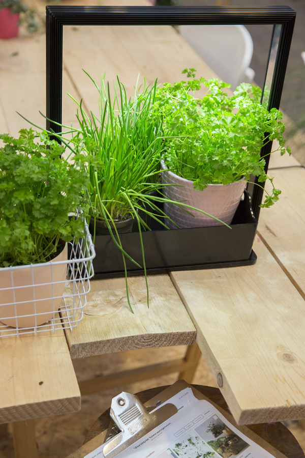 lampe led pour plantes pour cuisine mini farm m10 7xled blanc. Black Bedroom Furniture Sets. Home Design Ideas