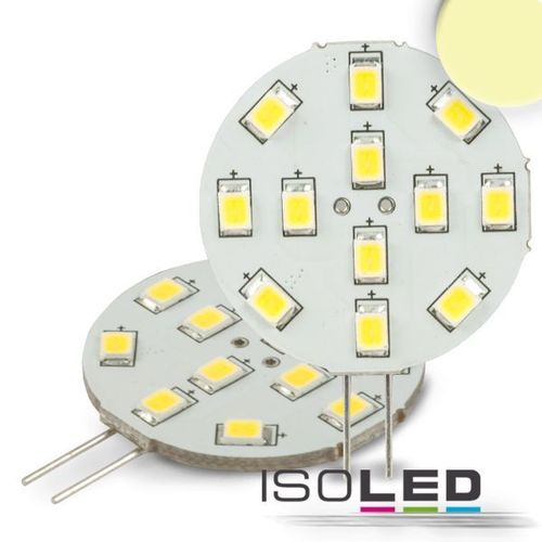 LED Stiftsockellampe G4 ISOLED 2W (ca. 25W) 12SMD 220lm 120° warmweiss