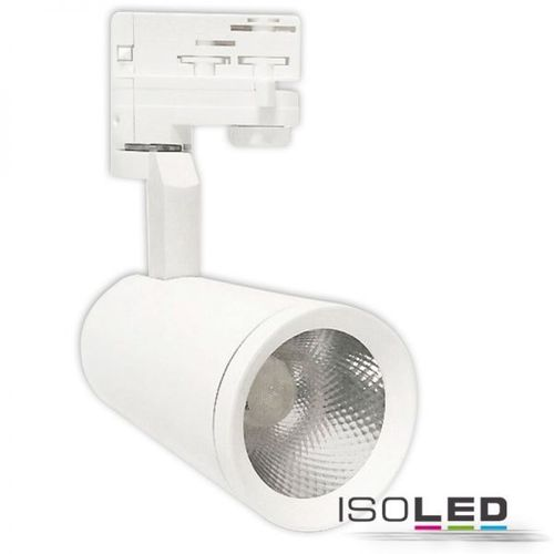 3-PH LED Schienenstrahler weiss ISOLED 28W 15° 2500lm (ca. 150W) neutralweiss