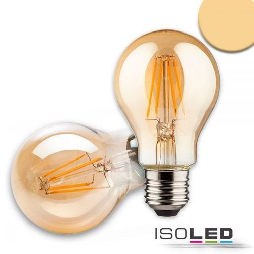 LED Filament Birne ISOLED E27 8W (ca. 50W) 500lm 2200K dimmbar