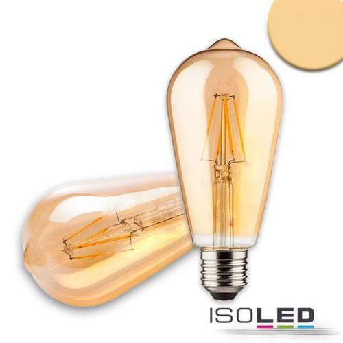 LED Filament Birne ST64 ISOLED E27 8W (ca. 50W) 550lm 2200K dimmbar