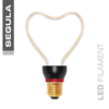 LED Filament ART HEART Segula 50148 E27 8W 330lm (ca. 30W) 2200K dimm.