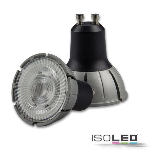 LED Spot GU10 ISOLED 8W 480lm (ca. 40W) warmw. 3000K 36° CRI>98 dimmbar