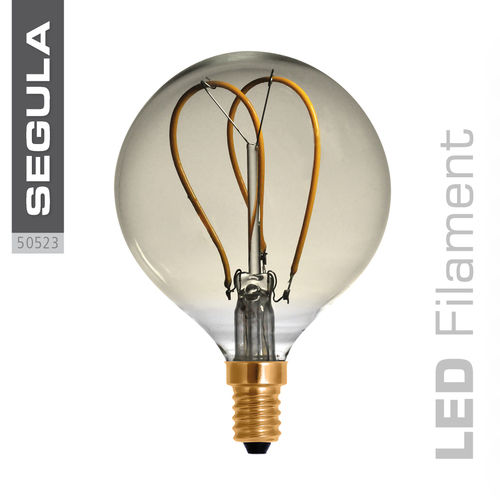 LED Filament Globe 80 Gold Curved Segula 50523 E14 4W (ca. 15W) 2200K dimm.