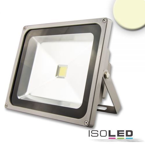 Projecteur LED ISOLED argent/gris 50W (ca. 250W) 4320lm blanc chaud