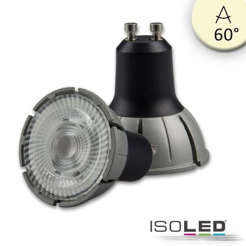 LED Spot GU10 ISOLED 8W 480lm (ca. 40W) warmw. 3000K 60° CRI>98 dimmbar