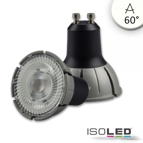 LED Spot GU10 ISOLED 8W 500lm (ca. 40W) neutralw. 4000K 60° CRI>98 dimmbar