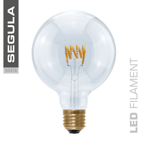 LED Filament Globe 125 Curved Segula 50416 E27 8W (ca. 25W) 2200K dimmbar
