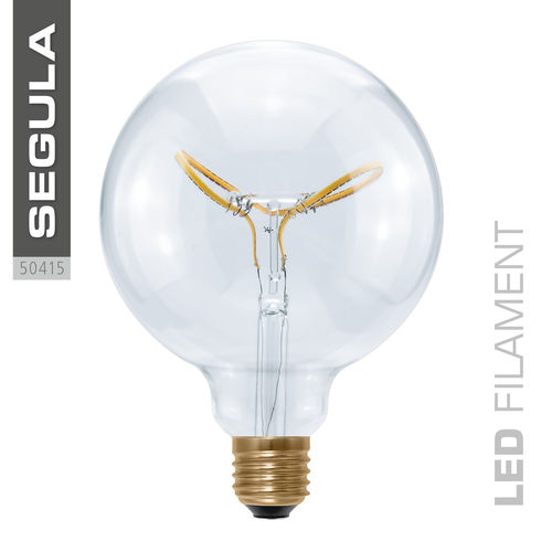 LED Filament Globe 125 Curved Segula 50415 E27 8W (ca. 25W) 2200K dimmbar